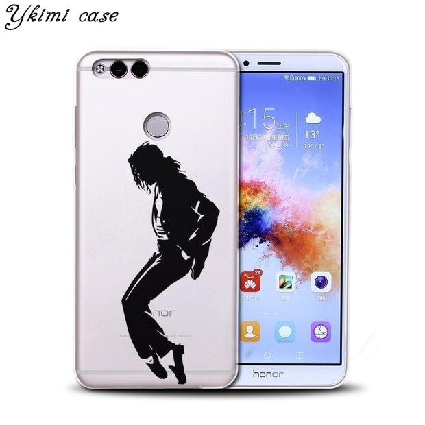 Ykimi Case For Huawei Honor 6A 7X 8 9 9i 10 Case Fashion Special Forces Design Cover Transparent TPU Soft Silicone Phone Capa