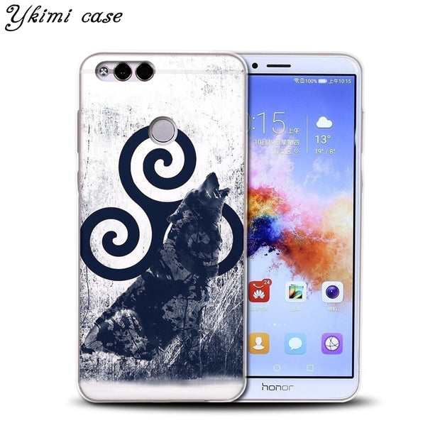 Ykimi Case For Huawei Honor 6A 7X 8 9 9i 10 Case Fashion Teen Wolf Season O'Brien Design Cover Transparent TPU Soft Silicone