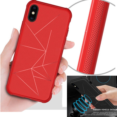 ZEALLION For Huawei P20 Pro Y6 Y7 Prime Y9 2018 P Smart Nova 2i 3e Case Magnetic Soft TPU Silicone Geometry Car Holder Case