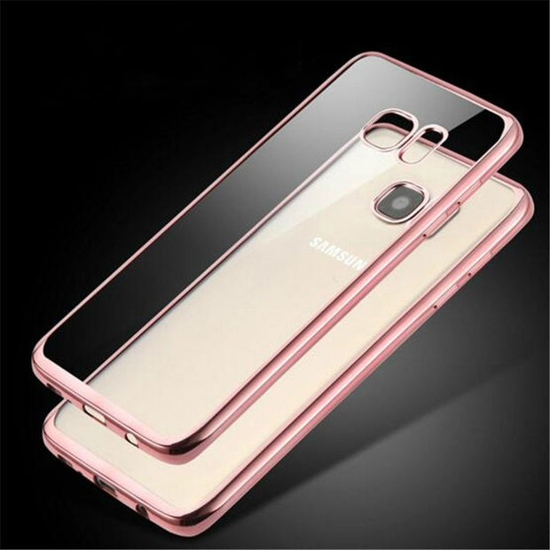 Case For Samsung S8 Luxury Electroplating Soft Transparent TPU Phone Back Cover Case For Samsung Galaxy S8 S8 Plus Bags