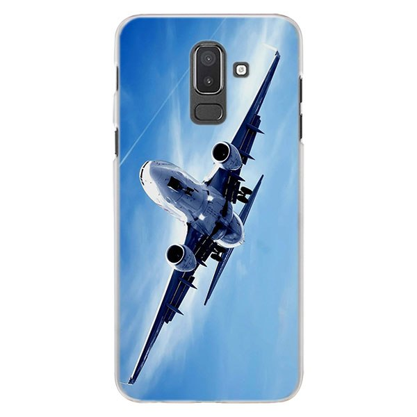 Flying Aircraft Airplane Phone Cases For Samsung Galaxy J4 J6 Plus J3 J7 J8  2018 C2 Core J5 J7 Prime Hard PC Coque Case