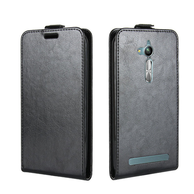 "For Asus ZenFone GO ZB500KL Flip Leather Case For Asus ZenFone GO ZB500KL 5.0"" Case Retro Wallet Leather Cover Cases Coque Etui>"