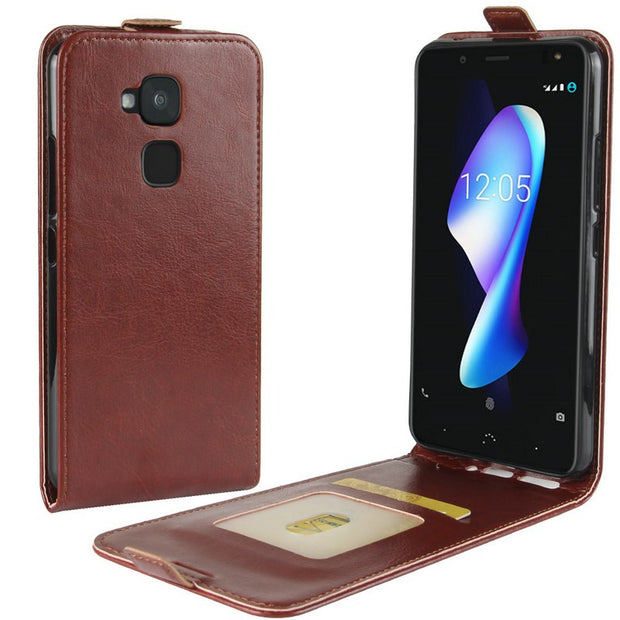 "For BQ Aquaris V Plus 5.5"" Flip Leather Case For BQ Aquaris V 5.2"" Case Retro Wallet Leather Cover Cases Coque Etui>"