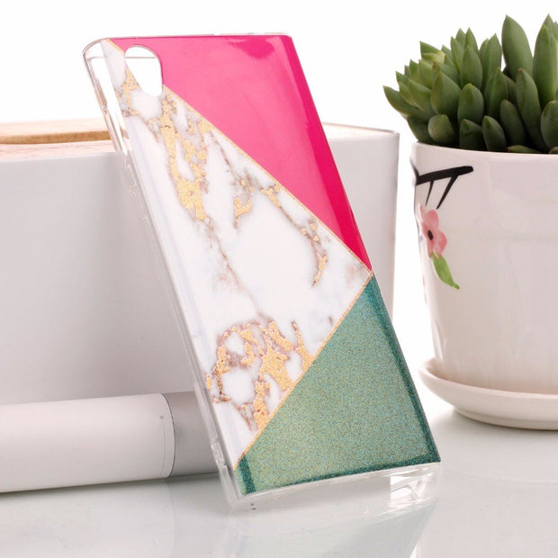For Fundas Sony Xperia L1 Phone Case 5.5 For Coque Sony Xperia L1 Ultra Thin Cover Case Silicon Back Covers Marble TPU Soft