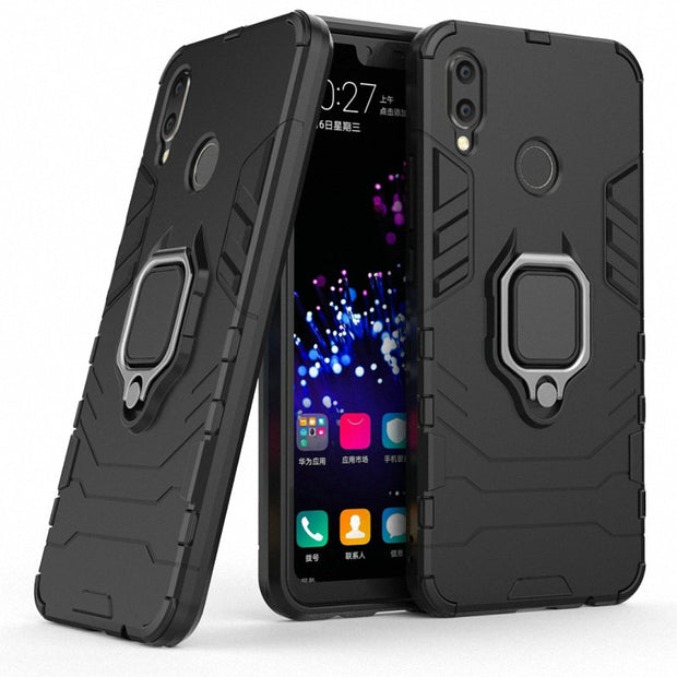 l'ultimo 38bb3 3281f For Huawei P Smart Plus Smart+ INE-LX1 INE-L21 Ring Case Car Holder Phone  Case For Huawei Nova 3i INE-LX2 Hard Armor Case Cover