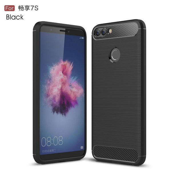 For Huawei P Smart FIG-LA1 FIG-LX1 LX2 Shockproof Leather Case For Huawei Nova Lite 2 FIG-L21 Phone Back Cover Slim Armor Case>