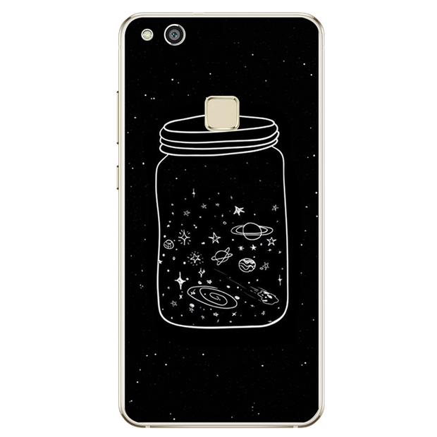 For Huawei P8 P9 P10 Lite 2017 For IPhone X 4 4S 5 5S SE 5C 6 6S 7 8 Plus Case Cover Starry Sky Bottle Soft TPU Silicone Phone