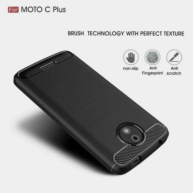 For Motorola Moto C Plus XT1723 XT1724 XT1725 Shockproof Leather Case For Moto C Phone Back Cover Slim Armor Case