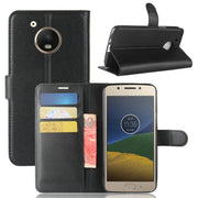 For Motorola Moto E4 Plus XT1775 Luxury Wallet Flip Leather Case For Moto E Plus 4th Gen Phone Back Cover Case +Stand
