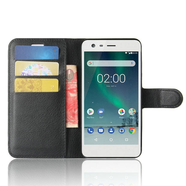 For Nokia 8 Sirocco TA-1005 Wallet Case Leather Case For Nokia 2 TA-1029 TA-1035 For Nokia 2.1 2018 Flip Leather Cover Case>