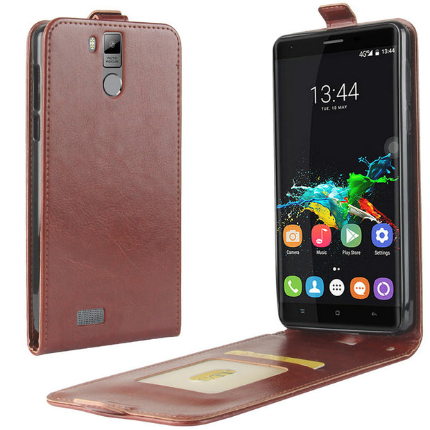 "For Oukitel K6000 Pro 5.5"" Luxury Flip Leather Case For Oukitel K6000 Pro 5.5"" Case Retro Wallet Leather Cover Cases Coque Etui>"