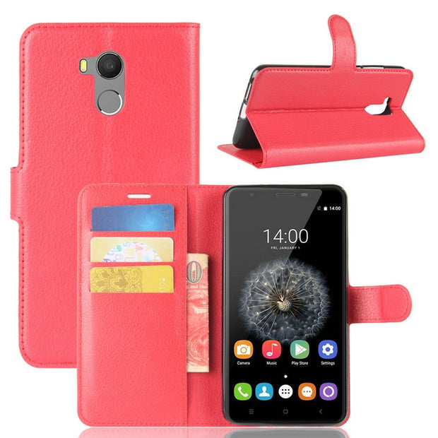 "For Oukitel U15 Pro Wallet Phone Case For Oukitel U15 Pro 5.5"" Flip Leather Cover Case With Stand Etui Fundas>"