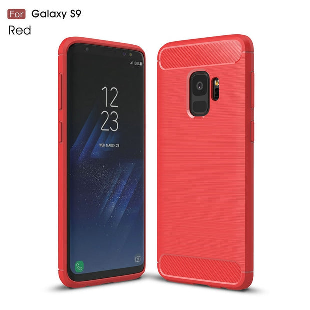 For Samsung Galaxy S9 Shockproof Phone Case Cover For Samsung Galaxy S9 Plus S9+ Slim Armor Case Back Cover Fundas Coque Etui>