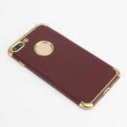 For IPhone 7P 8P Case With Electroplated Frame TPU Comfortabke Grip Back Cover Drop Resistant And Shockproof Protective Bumper