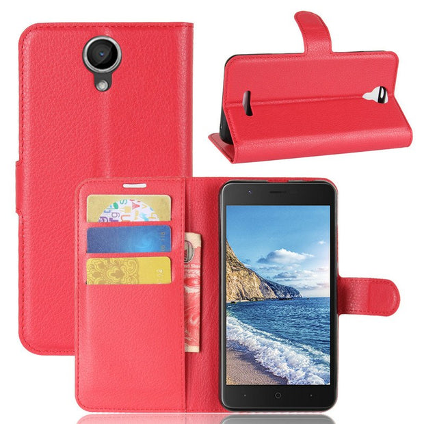 "For Wiko Harry 5.0"" Wallet Flip Leather Case For Wiko Harry 5.0"" Phone Back Cover Housing Case Shell With Stand"