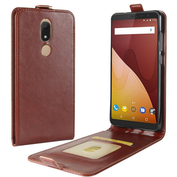 "For Wiko View Prime 5 WIERSS Luxury Flip Leather Case For Wiko View Prime 5.7"" Case Retro Wallet Leather Cover Cases Coque Etui>"