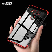 IOPCOOEM TPU Plating Case For Huawei Mate 10 Pro Back Cover Silicon Soft Transparent Phone Cases For Huawei Mate 10 Lite Coque