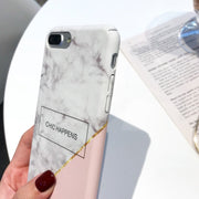 IPWSOO Simple Phone Cases For IPhone 6 6S 7 8 Plus Case Marble Splice Painted Pattern Matte Hard PC Phone Case For IPhone 7 Case