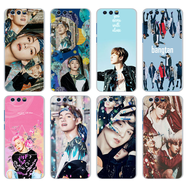 Kpop BTS Bangtan Boys Phone Cases For Huawei Honor 8 9 10 Lite Hard PC Case Cover For Honor 4C 6C Pro 6x 7x 8x 7s Case