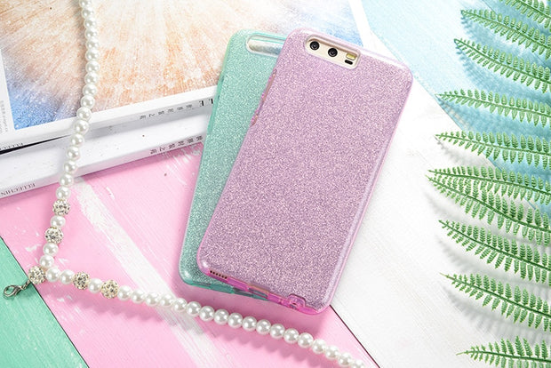 Shine Cell Phone Case For Huawei P20 P20 Pro P20 Plus P20 Lite P9 P9 Lite P8 Lite 2017 Luxury Silicone 360 Soft Cover For Mate 8