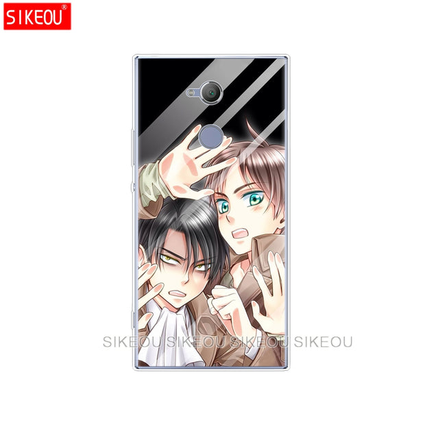 Silicone Cover Phone Case For Sony Xperia XA1 XA2 ULTRA PLUS L1 L2 XZ1 XZ2 Compact XZ PREMIUM Japanese Anime Touch Glass Kawaii