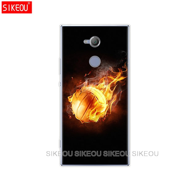 Silicone Cover Phone Case For Sony Xperia XA1 XA2 ULTRA PLUS L1 L2 XZ1 XZ2 Compact XZ PREMIUM Fire Volleyball Sport Water