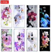 Silicone Cover Phone Case For Sony Xperia XA1 XA2 ULTRA PLUS L1 L2 XZ1 XZ2 Compact XZ PREMIUM Orchid Flowers Colorful