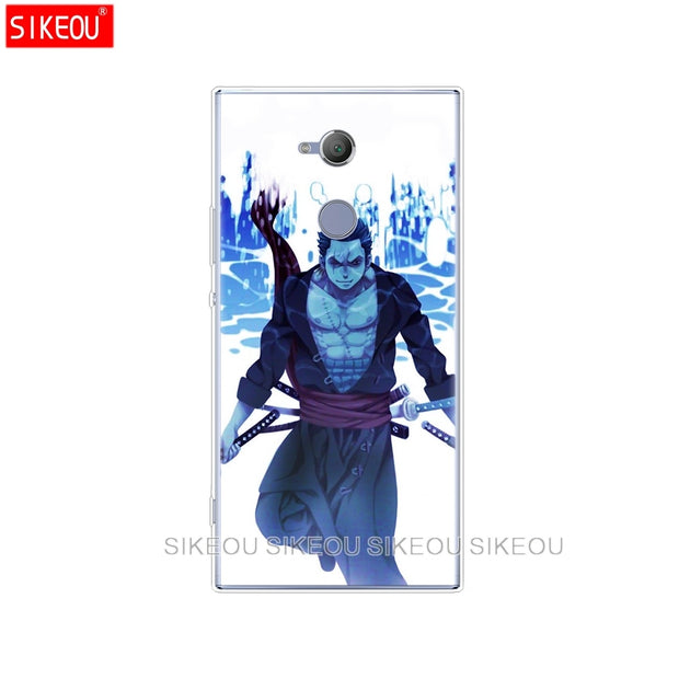 Silicone Cover Phone Case For Sony Xperia XA1 XA2 ULTRA PLUS L1 L2 XZ1 XZ2 Compact XZ PREMIUM One Piece Roronoa Zoro Anime