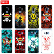 Silicone Case For Samsung Galaxy S9 S8 S7 S6 Edge S5 S4 S3 PLUS Phone Cover One Piece Pirates Logo Anime Cartoon