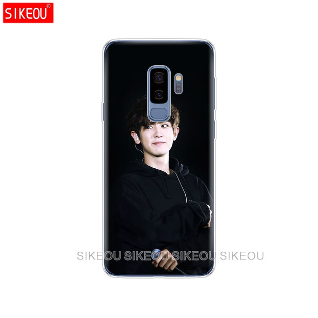 Silicone Case For Samsung Galaxy S9 S8 S7 S6 Edge S5 S4 S3 PLUS Phone Cover Kpop Exo LUHAN Park Chanyeol