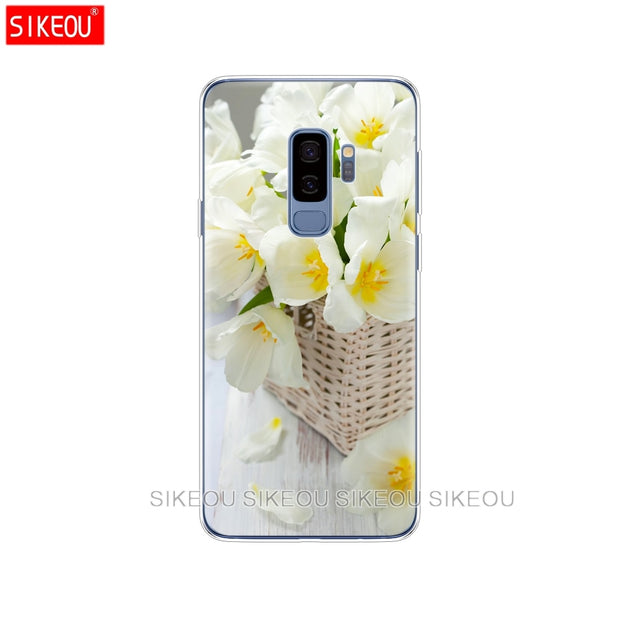 Silicone Case For Samsung Galaxy S9 S8 S7 S6 Edge S5 S4 S3 PLUS Phone Cover Orchid Flowers Colorful