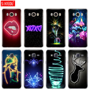 Silicone Cover Phone Case For Samsung Galaxy J1 J2 J3 J5 J7 MINI 2016 2015 Prime Neon Pattern Print