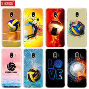 Silicone Cover Phone Case For Samsung Galaxy J3 J5 J7 2017 J330 J530 J730 PRO J2 2018 Fire Volleyball Sport Water