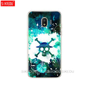 Silicone Cover Phone Case For Samsung Galaxy J3 J5 J7 2017 J330 J530 J730 PRO J2 2018 One Piece Pirates Logo Anime Cartoon