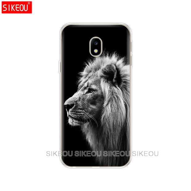 Silicone Cover Phone Case For Samsung Galaxy J3 J5 J7 2017 J330 J530 J730 PRO J2 2018 Lion Tiger Fashion Lovely Animal