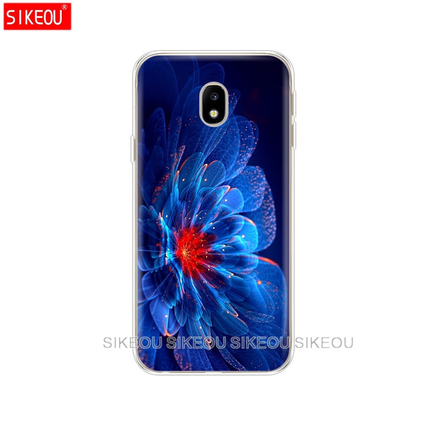 Silicone Cover Phone Case For Samsung Galaxy J3 J5 J7 2017 J330 J530 J730 PRO J2 2018 Neon Pattern Print