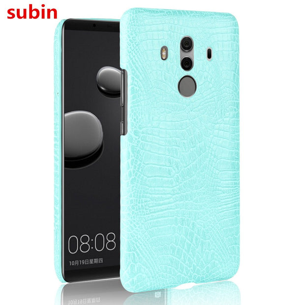 Subin For Huawei Mate 10 Pro Case 6.0inch PU Leather Retro Crocodile Skin Hard Cover For Huawei Mate10 Pro BLA-L29 Phone Case