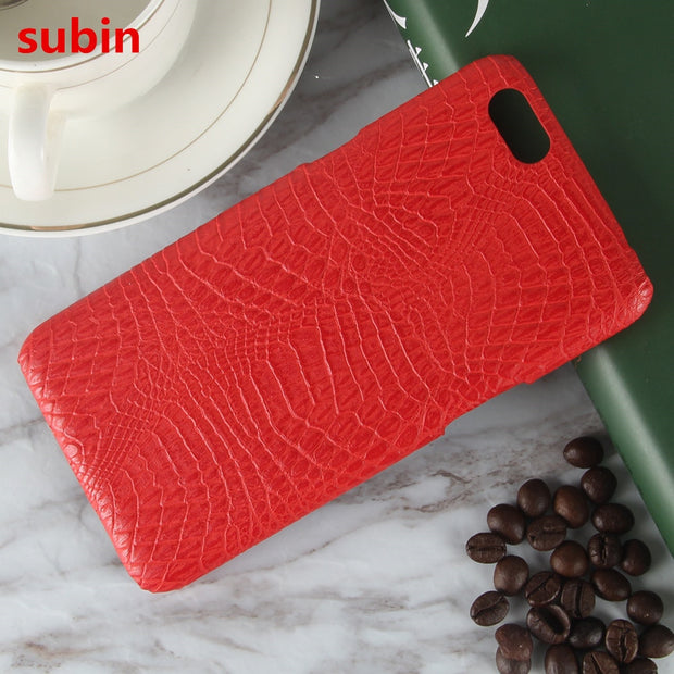 Subin For Oppo A71 Case 5.2inch Retro Luxury Crocodile Skin Hard Protective Back Cover For Oppo A71 Phone Bag Coques