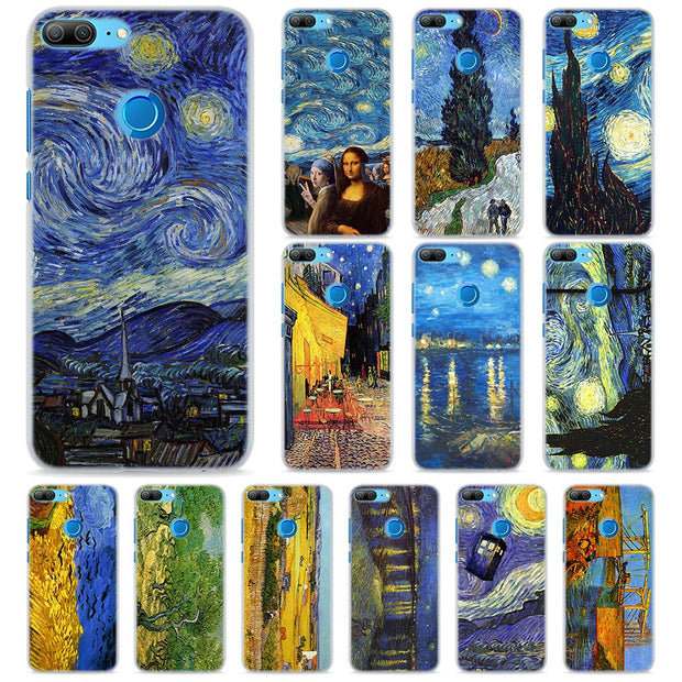 best website ff16f 84c0d Van Gogh Starry Night Phone Cases For Huawei Honor 8 9 10 Lite Hard PC Case  Cover For Honor 4C 6C Pro 6x 7x 8x 7s Case