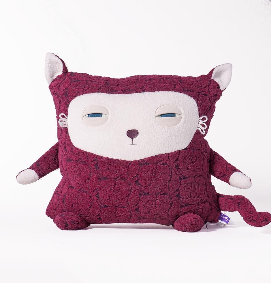 Coussin Chatte rouge