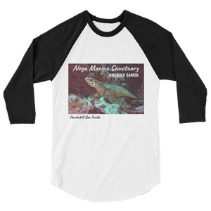 Hawksbill Sea Turtle 3/4 sleeve raglan shirt