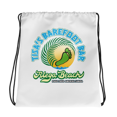 Tisa's Barefoot Bar Drawstring bag