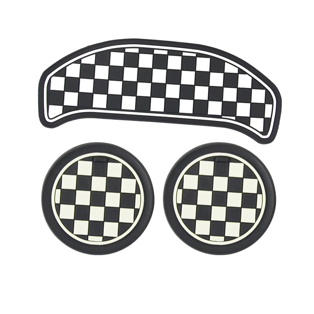 3Pcs Anti-Slip Interior Cup Mat Pad F54