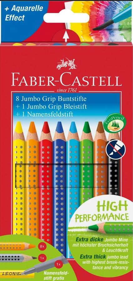 Jumbo Grip Buntstifte Promotionset 10-teilig