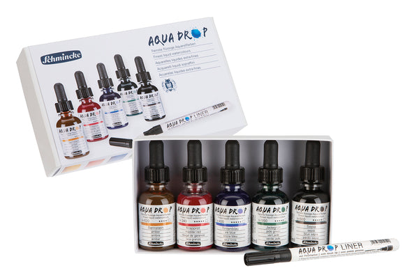 Aqua Drop Kartonset 5x 30ml + Aqua Drop Liner