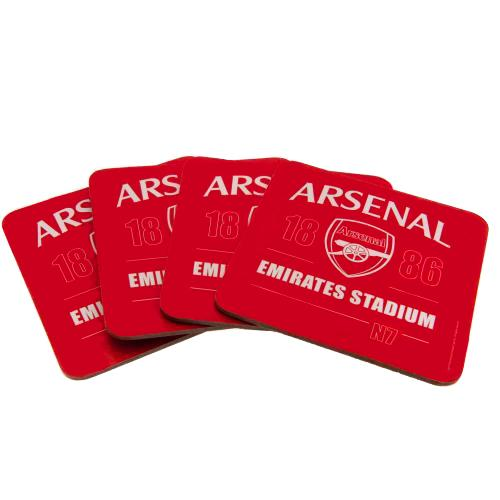 Arsenal F.C. 4pk Coaster Set - AOT Sports