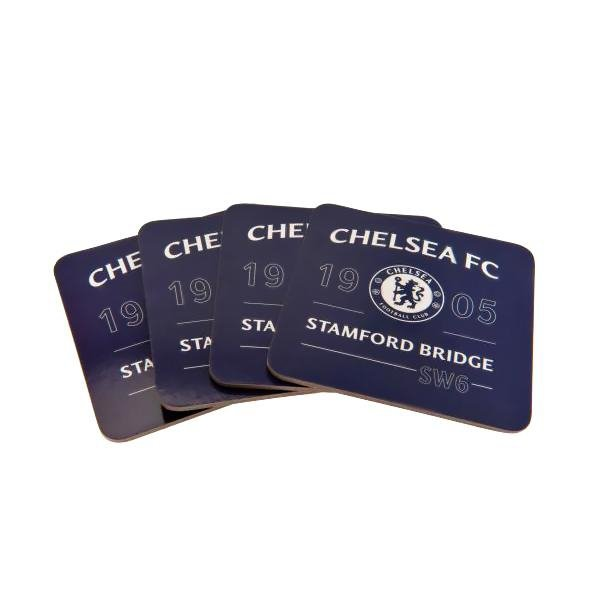 Chelsea F.C. 4pk Coaster Set - AOT Sports