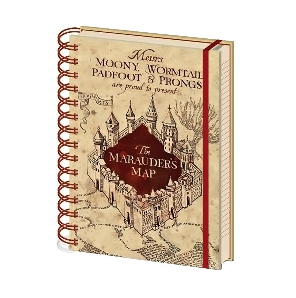 Harry Potter Notebook Marauders Map - AOT Sports