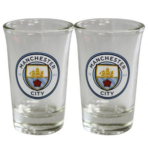 Manchester City F.C. 2pk Shot Glass Set - AOT Sports
