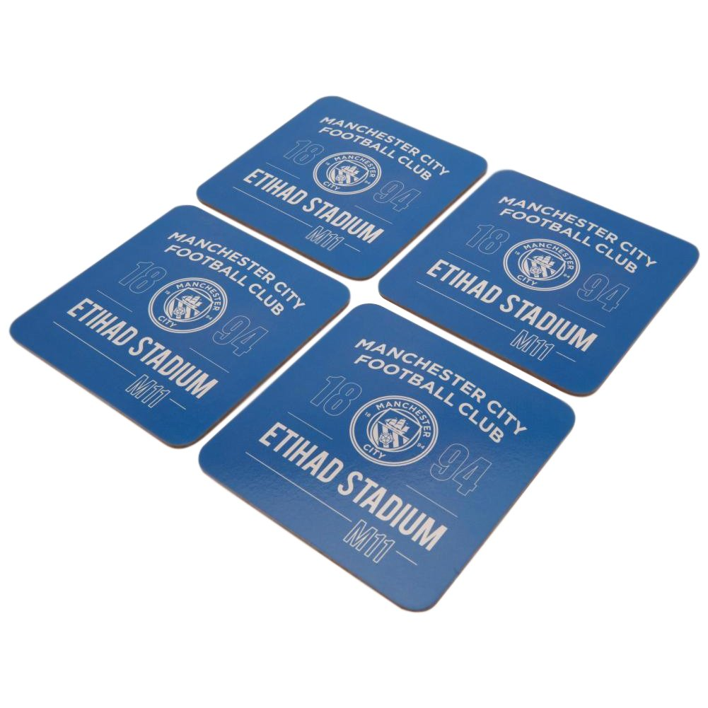 Manchester City F.C. 4pk Coaster Set - AOT Sports